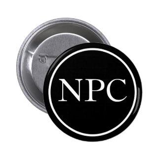 Carácter del No-Jugador Pin Redondo De 2 Pulgadas