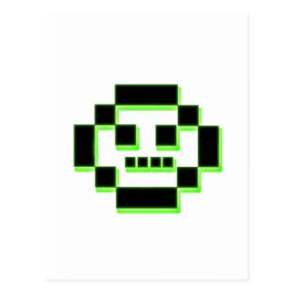 Carácter del pixel tarjeta postal
