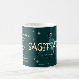 Carácter del zodiaco del sagitario tazas de café
