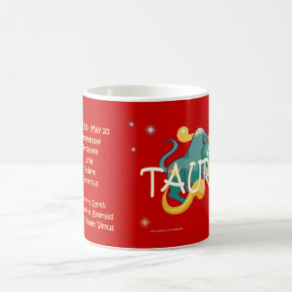 Carácter del zodiaco del tauro tazas de café