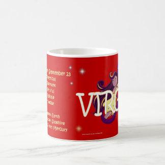 Carácter del zodiaco del virgo taza básica blanca