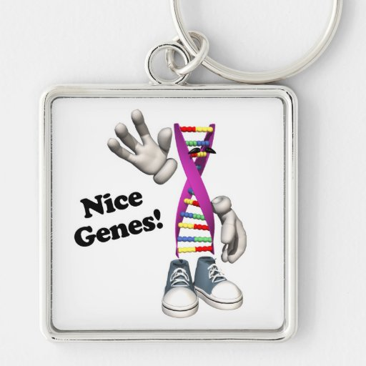 Carácter divertido de la tira de la DNA de los gen Llaveros