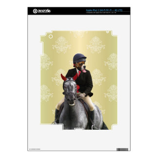 Carácter divertido del jinete del caballo iPad 3 skin