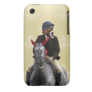 Carácter divertido del jinete del caballo iPhone 3 fundas