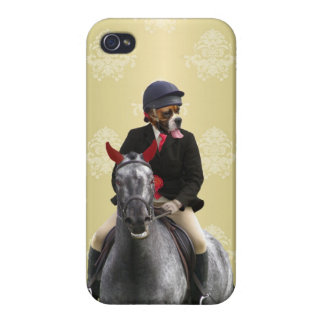 Carácter divertido del jinete del caballo iPhone 4/4S fundas