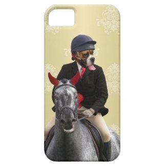 Carácter divertido del jinete del caballo iPhone 5 carcasas