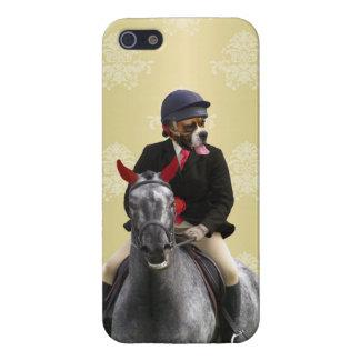Carácter divertido del jinete del caballo iPhone 5 funda