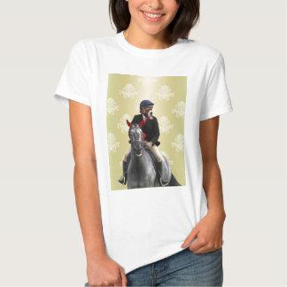 Carácter divertido del jinete del caballo polera