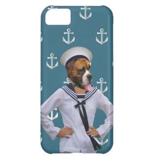 Carácter divertido del perro del marinero carcasa iPhone 5C