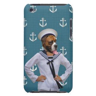 Carácter divertido del perro del marinero iPod Case-Mate cobertura