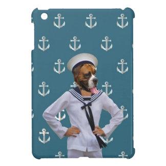 Carácter divertido del perro del marinero iPad mini cobertura