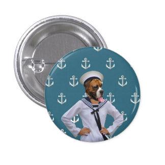 Carácter divertido del perro del marinero pins