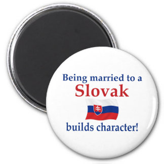 Carácter eslovaco de las estructuras imán redondo 5 cm