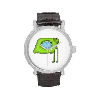 Carácter extranjero divertido del monstruo relojes de pulsera
