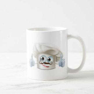 Carácter feliz del cocinero del dibujo animado taza