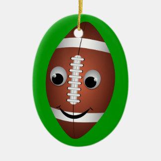 Carácter gráfico del fútbol ornamentos de navidad