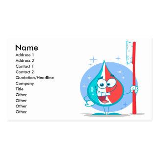 carácter lindo de la crema dental de la chispa con plantillas de tarjeta de negocio