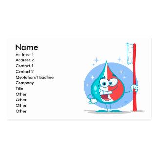 carácter lindo de la crema dental de la chispa con tarjetas personales