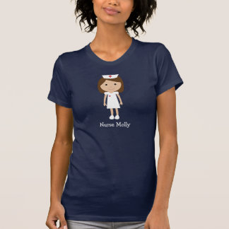 Carácter lindo de la enfermera del dibujo animado  camisetas