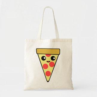 Carácter lindo de la pizza de Kawaii Bolsa Tela Barata