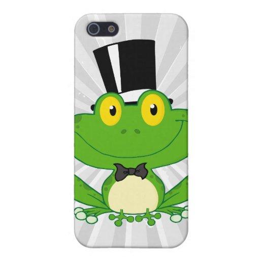 carácter lindo de la rana del dibujo animado del n iPhone 5 funda