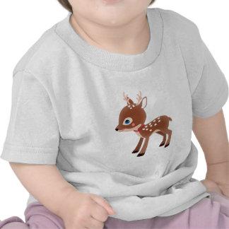 Carácter lindo de los ciervos del reno camisetas