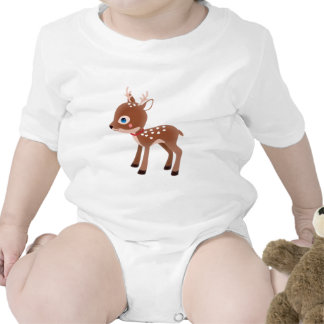 Carácter lindo de los ciervos del reno trajes de bebé