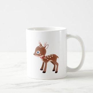 Carácter lindo de los ciervos del reno taza