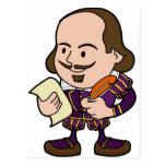 Carácter lindo de William Shakespeare Tarjeta Postal