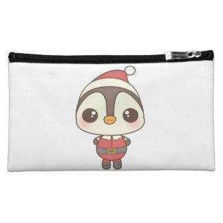carácter lindo del pingüino de Papá Noel