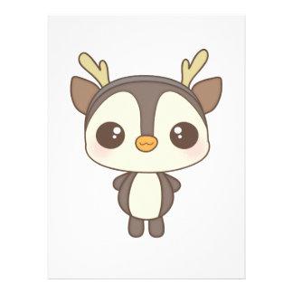 carácter lindo del reno del pingüino del navidad invitacion personal