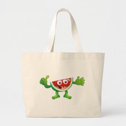 Carácter lindo feliz de la fruta de la sandía bolsas