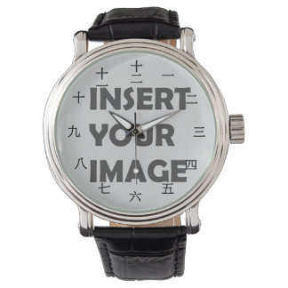 Carácter numérico chino (fuente negra) relojes