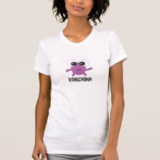 Carácter púrpura del animado de Konichiwa Camisetas
