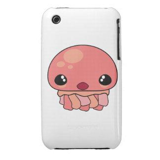 Carácter rosado lindo de las medusas de Kawaii iPhone 3 Protector