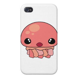 Carácter rosado lindo de las medusas de Kawaii iPhone 4 Protector
