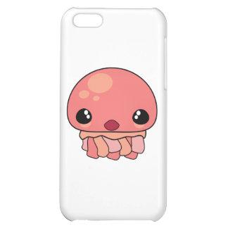 Carácter rosado lindo de las medusas de Kawaii