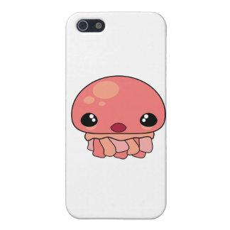 Carácter rosado lindo de las medusas de Kawaii iPhone 5 Carcasas