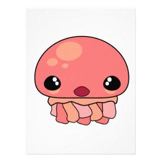 Carácter rosado lindo de las medusas de Kawaii Comunicados Personales