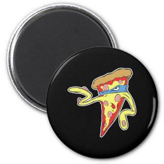 carácter tonto de la pizza de salchichones del mal imán redondo 5 cm