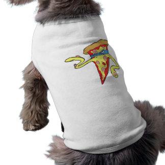 carácter tonto de la pizza de salchichones del mal playera sin mangas para perro