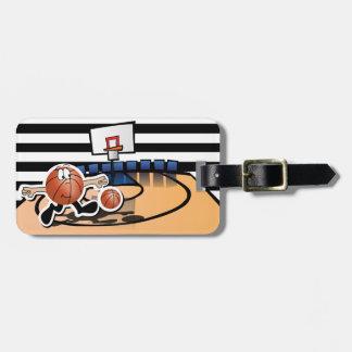 Carácter tonto del baloncesto etiquetas para maletas
