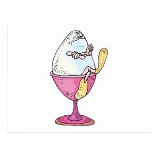 carácter tonto del huevo duro tarjetas postales