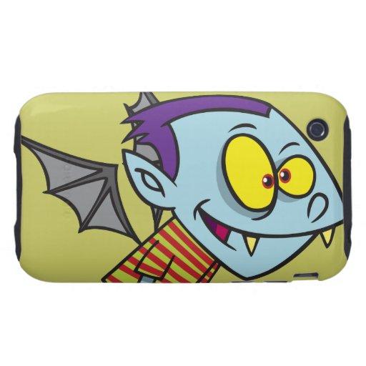 carácter tonto del muchacho del palo de vampiro iPhone 3 tough carcasas