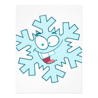 carácter tonto feliz lindo del copo de nieve del d invitación personalizada