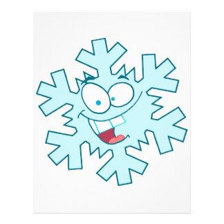 """carácter tonto feliz lindo del copo de nieve del folleto 8.5"""" x 11"""""""