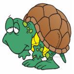 carácter torpe lindo de la tortuga del dibujo anim escultura fotográfica