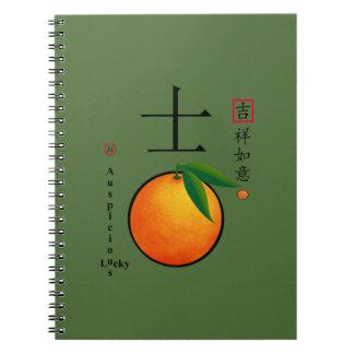 Caracteres afortunados chinos del Año Nuevo Cuadernos