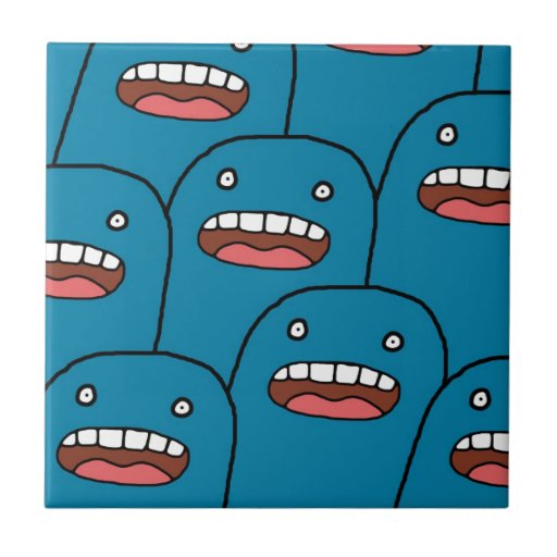 Caracteres azules azulejo