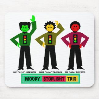 Caracteres cambiantes del trío de la luz de parada tapete de ratones